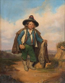 A Young Shepherd | Filippo Palizzi | Oil Painting