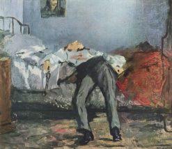 Suicide   douard Manet   Oil Painting