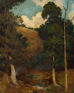 Study for 'Pastoral with Woodland Pond' | Benjamin Haughton | Oil Painting