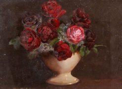 Study of Roses | Benjamin Haughton | Oil Painting