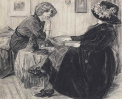 Chatting ladies | Leo Gestel | Oil Painting