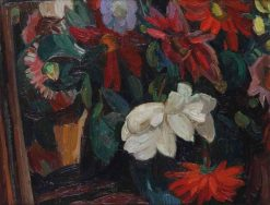 A still life with flowers | Leo Gestel | Oil Painting