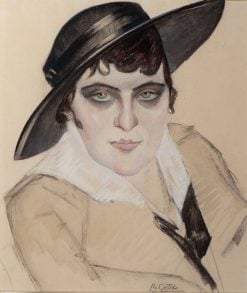 Woman with Black Hat | Leo Gestel | Oil Painting