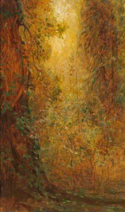 Sunlit Trees | Benjamin Haughton | Oil Painting
