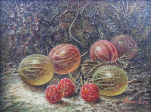 Gooseberries and Raspberries | Oliver Clare | Oil Painting