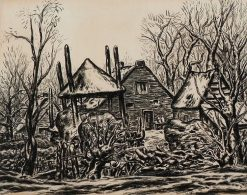 Farmyard Surrounded by Trees | Leo Gestel | Oil Painting
