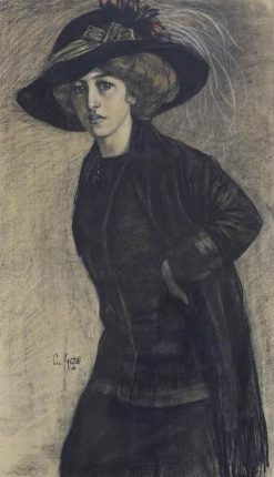Elegant lady | Leo Gestel | Oil Painting