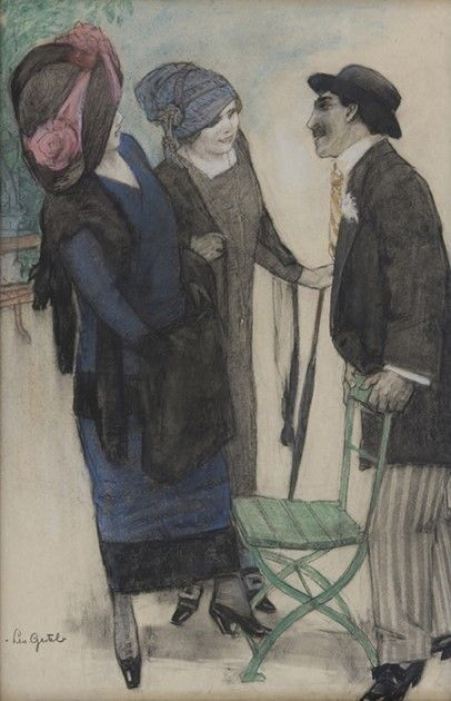 Conversation in the Park | Leo Gestel | Oil Painting