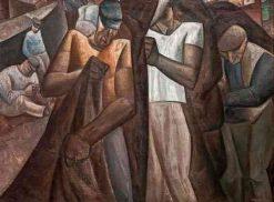 Workers in Positano Harbour | Leo Gestel | Oil Painting