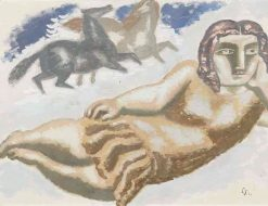 Woman and Horses | Leo Gestel | Oil Painting