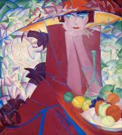 Lady in a Large Hat | Leo Gestel | Oil Painting