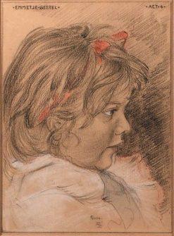 Emmetje Gestel aged 4 | Leo Gestel | Oil Painting