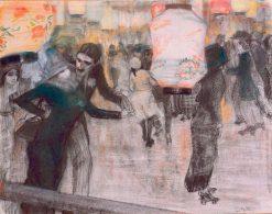 Rollerskating | Leo Gestel | Oil Painting