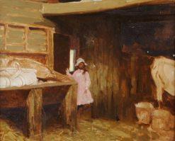 The Milking Parlour | Benjamin Haughton | Oil Painting