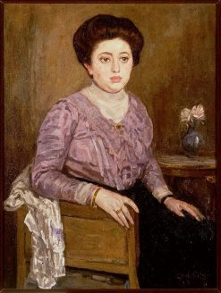 Portrait of Marie Boendermaker-Schoenmaker | Leo Gestel | Oil Painting