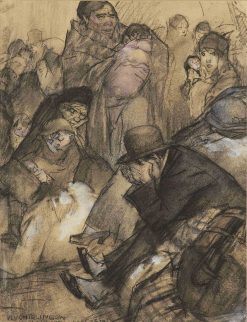 Refugees from Belgium | Leo Gestel | Oil Painting