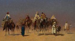 The Desert Caravan | Edmund Berninger | Oil Painting