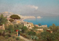View from Posilippo to the Bay of Naples   Edmund Berninger   Oil Painting
