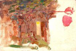 Tree by a Cottage Door | Benjamin Haughton | Oil Painting