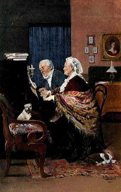 Playing the Piano   Vladimir Yegorovich Makovsky   Oil Painting