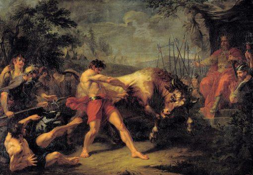 Jan Usmar Fighting the Bull | Gigory Ugryumov | Oil Painting