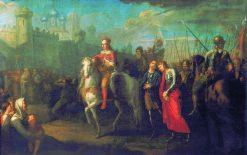 The Entry of Alexander Nevsky into Pskov | Gigory Ugryumov | Oil Painting