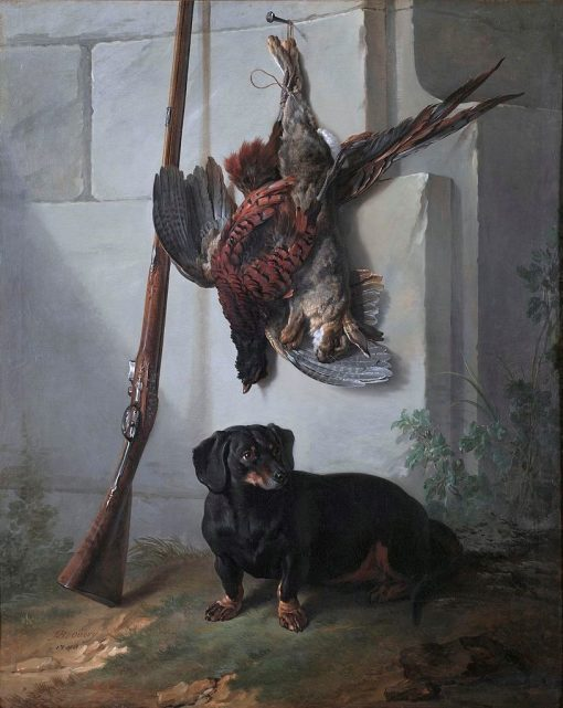 The Dachshound Pehr with Dead Game and Rifle | Jean-Baptiste Oudry | Oil Painting