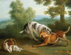 The dog carring his dinner to his master | Jean-Baptiste Oudry | Oil Painting