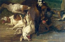 Boar Hunt | Jean-Baptiste Oudry | Oil Painting