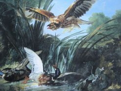 Bird of Prey Attacking Ducks | Jean-Baptiste Oudry | Oil Painting