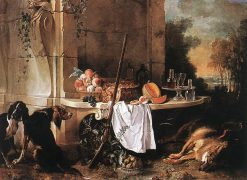 Dead Wolf   Jean-Baptiste Oudry   Oil Painting