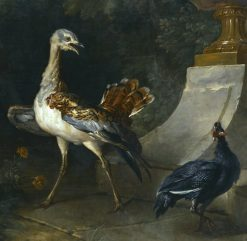 Bustard and guinea fowl | Jean-Baptiste Oudry | Oil Painting