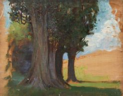 Trees and Fields | Benjamin Haughton | Oil Painting
