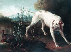 Dog and partridges | Jean-Baptiste Oudry | Oil Painting