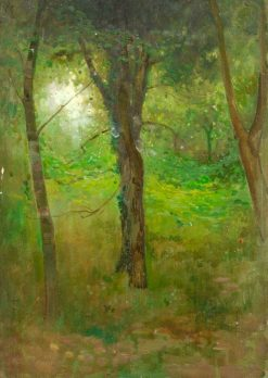 Trees and Undergrowth | Benjamin Haughton | Oil Painting