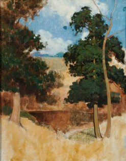 Trees in a Cornfield | Benjamin Haughton | Oil Painting