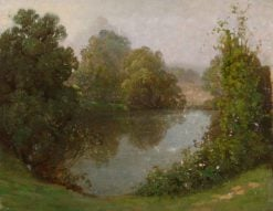 Trees by a Lake | Benjamin Haughton | Oil Painting