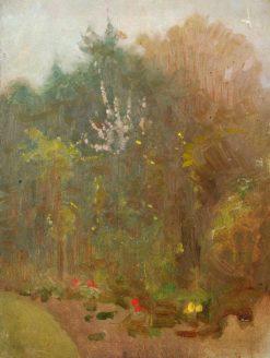 Trees in a Garden | Benjamin Haughton | Oil Painting