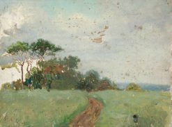 Trees in a Field | Benjamin Haughton | Oil Painting