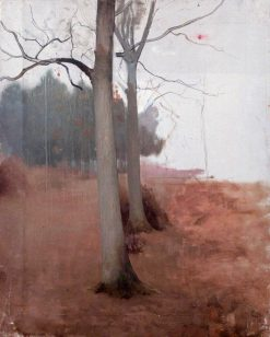 Trees in a Winter Landscape | Benjamin Haughton | Oil Painting