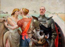 Aleksander Wielopolski with allegorical figures | Jacek Malczewski | Oil Painting