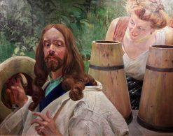 Christ and the Samaritan Woman | Jacek Malczewski | Oil Painting