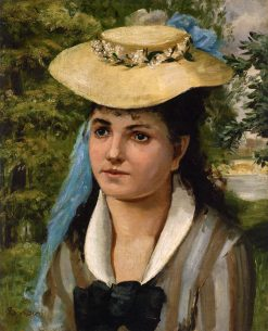 Lise in a Straw Hat (also known as Jeune file au chapeau de paille) | Pierre Auguste Renoir | Oil Painting