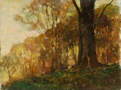 Trees in Downland | Benjamin Haughton | Oil Painting