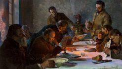 Christmas Eve in Siberia | Jacek Malczewski | Oil Painting