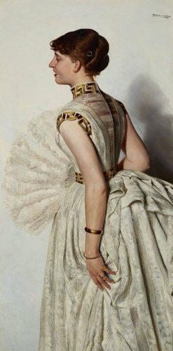 Portrait of a Bride (also known as Maria Gralewska) | Jacek Malczewski | Oil Painting