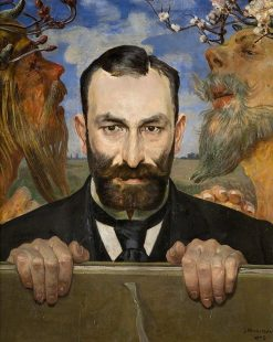 Portrait of Feliks Jasie?ski | Jacek Malczewski | Oil Painting
