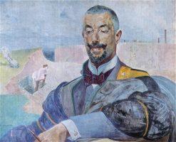 Portrait of Erazm Bar?cz | Jacek Malczewski | Oil Painting