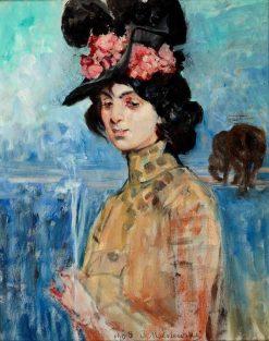 Portrait of Zofia Atteslander | Jacek Malczewski | Oil Painting