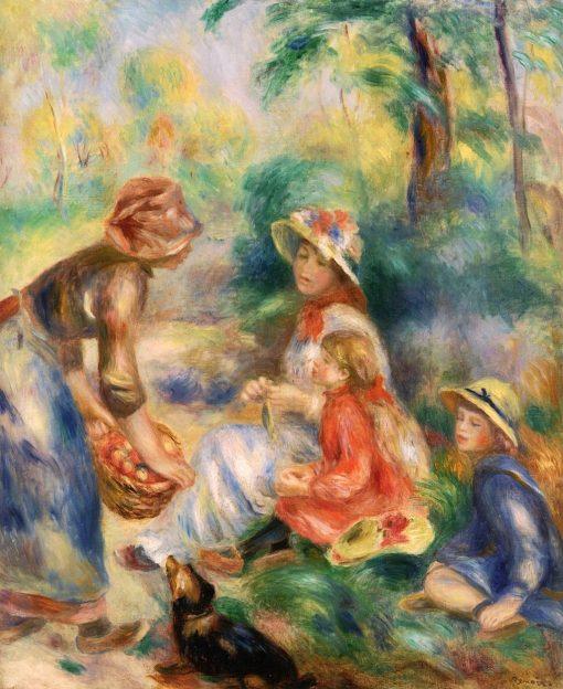 Apple Vendor (also known as La Marchande de pommes) | Pierre Auguste Renoir | Oil Painting
